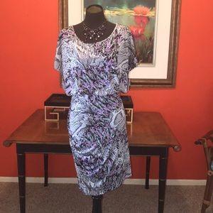 MARC NEW YORK NEW  SNAKESKIN PRINT DRESS